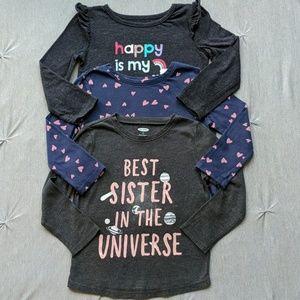 Toddler Girls Graphic Tees (3T)